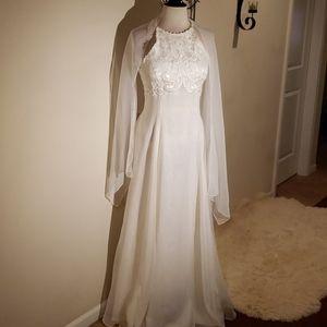 White Dress with shawl